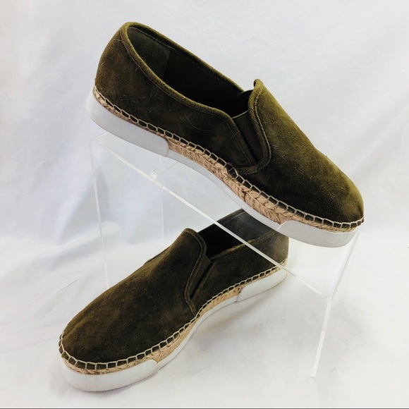 Vince Camuto Tambie Green Suede Slip On